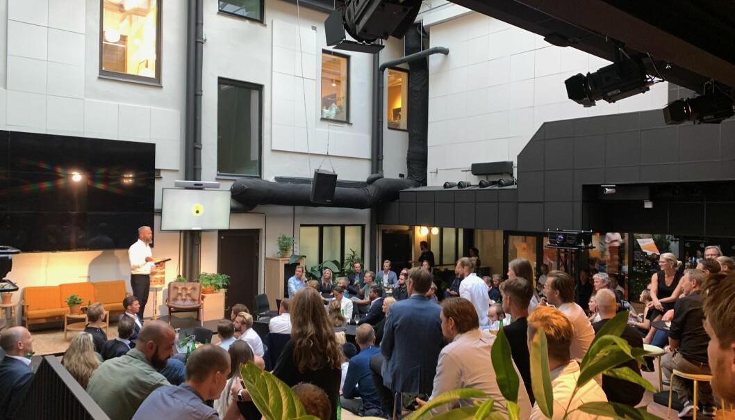 FULLT HUS: Det var stor interesse for proptech-arrangementet hos Mesh under Oslo Urban Week.