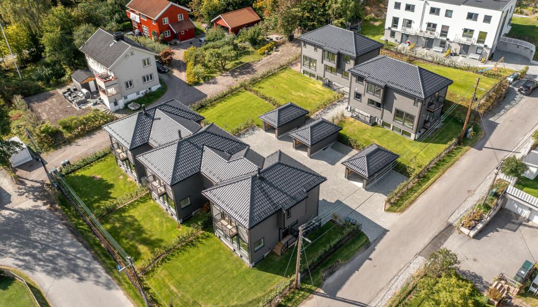 OVER 100 BOLIGER: Tiberius Eiendom har solgt over 100 boliger, blant annet i Øvre Smestadvei 40 – prosjektet ferdigstilles i disse dager.