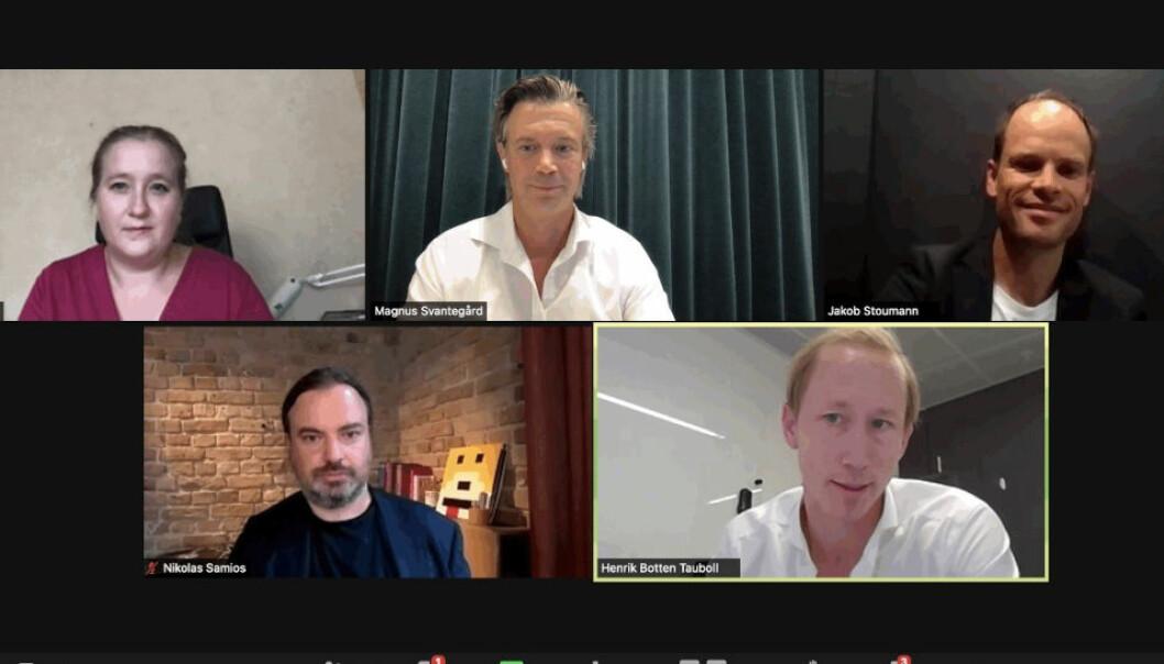 KONSOLIDERING: - Kjøperne av proptech blitt langt mer profesjonelle, sier Henrik Taubøll (nederst til høyre) fra Proptech Norway og Wiersholm, her under Nordic Proptech Quarterly Update.