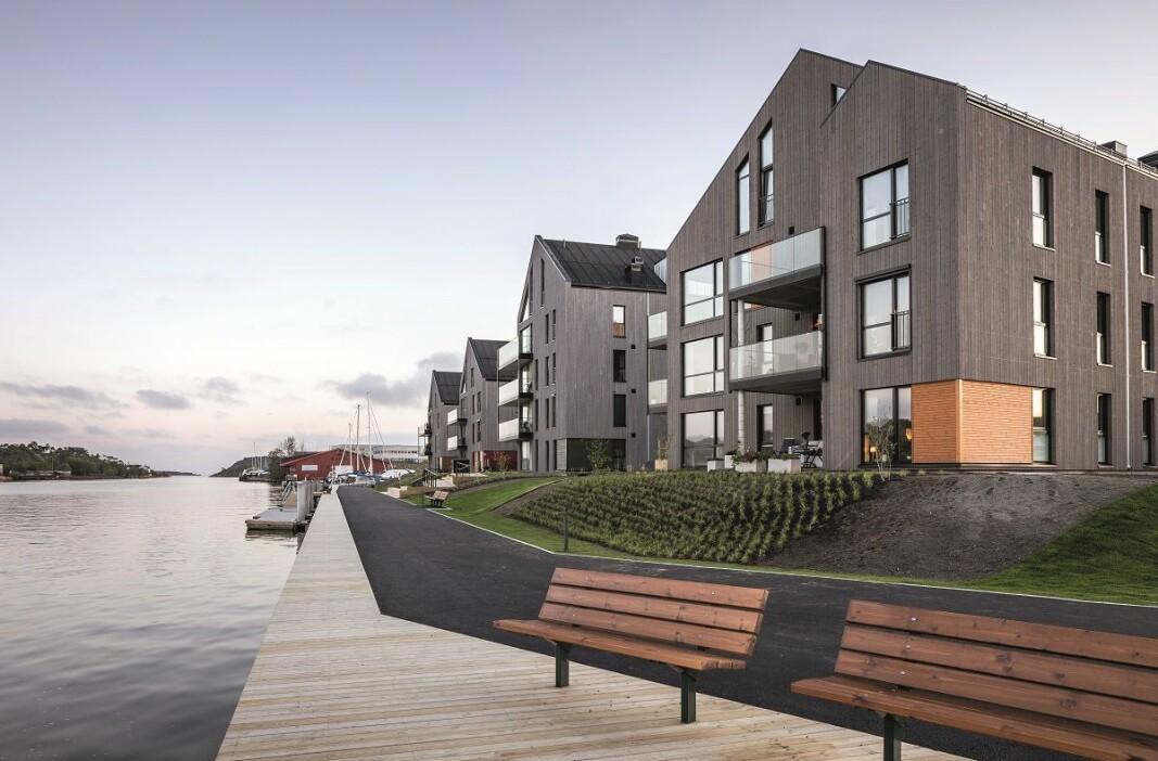 TIL TOPPS: Så langt er 138 av 149 leiligheter solgt i Bruket Brygge.
