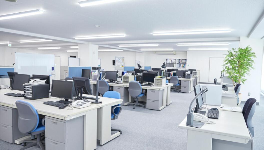 BØLGEN OVER: Bølgen av fortetting inne i kontorlokalene ser ut til å være over.