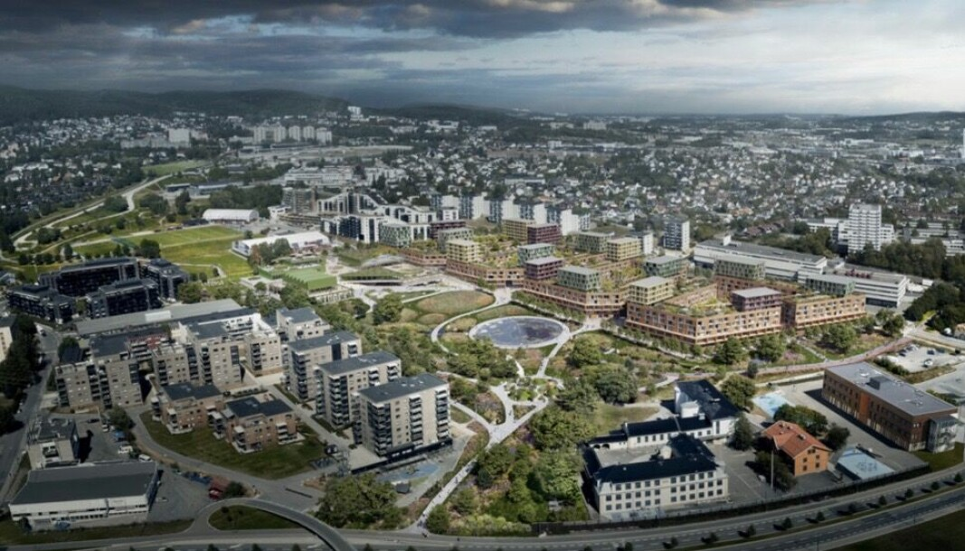 KAN ROMME TI FOTBALLBANER: Hasle-Løren Idrettslag påpeker at BAMA-tomten til Oslo kommune er stor nok til å romme minst ti fotballbaner.