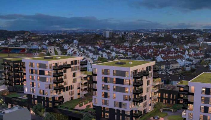 MARVIKA TORV: Også utenfor bykjernen skjer det saker. I bydelen Lund skal Kristiansand kommune bygge 320.000 kvadratmeter bolig og næring for snaut 800 millioner kroner.