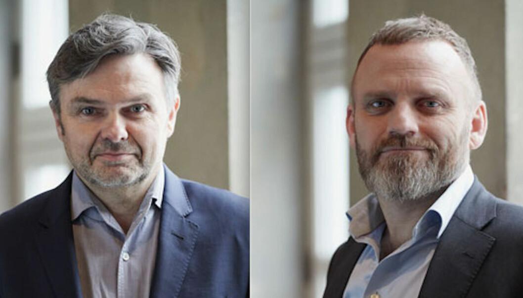OMORGANISERER: Oslo Houses Jarl Fronth og Bjørnar Johnsen gjør endringer.