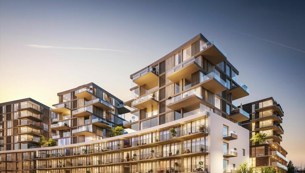 Prosjektet ligger like ved Carl Berner. LOF Arkitekter.