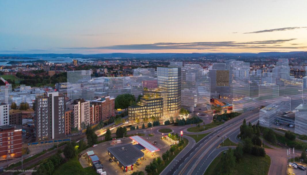 BYMESSIGE KVALITETER: Skanska vil oppføre et kontorbygg med bymessige kvaliteter.