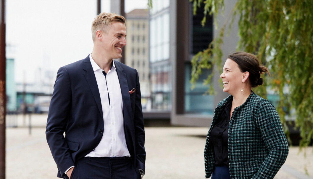 STERK VEKST: Kameos grunnlegger og CEO Sebastian Marten Harung og Kameo Norges daglige leder Linn Hoel Ringvoll opplever sterk vekst.