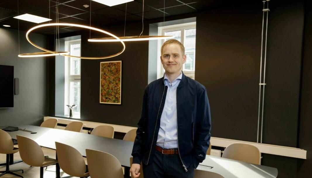 HENTER INN PENGER VIA PLATTFORMEN: Daglig leder Geir Bore forteller at Fundingpartner har hentet inn 251 millioner kroner til norske eiendomsselskaper så langt i år.