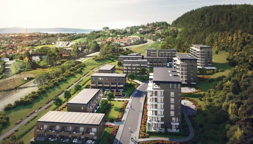 ETTERSPØRSEL: Nordr har solgt boliger for 5,4 milliarder i år. Her fra Øvre Steinaunet i Trondheim.