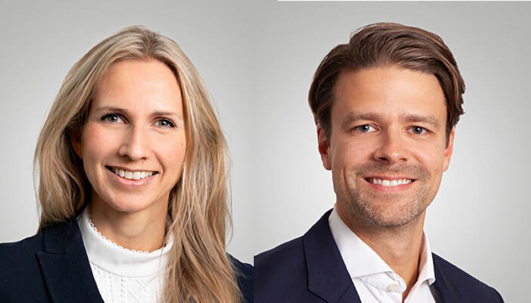 NYANSATTE: Nina Cecilie Fagerland Wraal og Kristofer Aarnes.