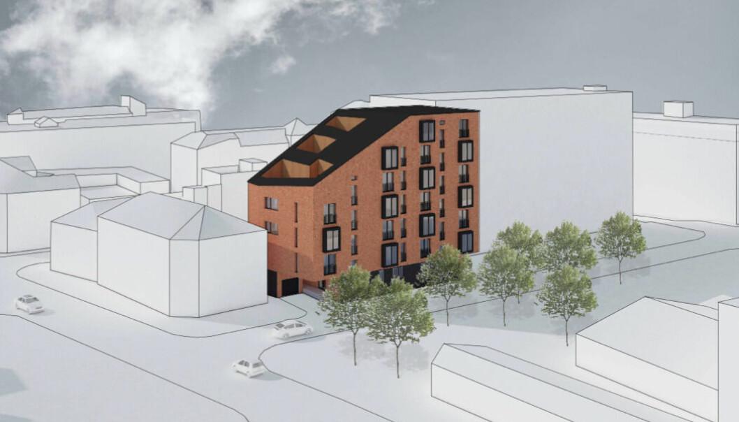 FORTETTING: Slik kan det kommende boligprosjektet bli.