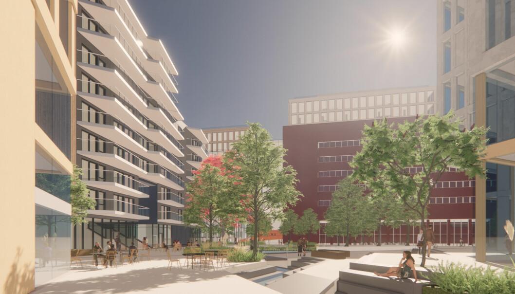 5.000 NYE ARBEIDSPLASSER: Den nye bebyggelsen skal huse utadrettede virksomheter, ca. 5.000 nye arbeidsplasser og 350-400 nye boliger.