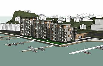 Planene om strandhotell ble lagt på is, nå blir det boliger i stedet (+)