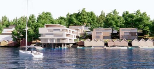Ber om å få bygge boliger delvis uti sjøen (+)