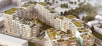 Planlegger 300 leiligheter i opptil ni etasjer (+)