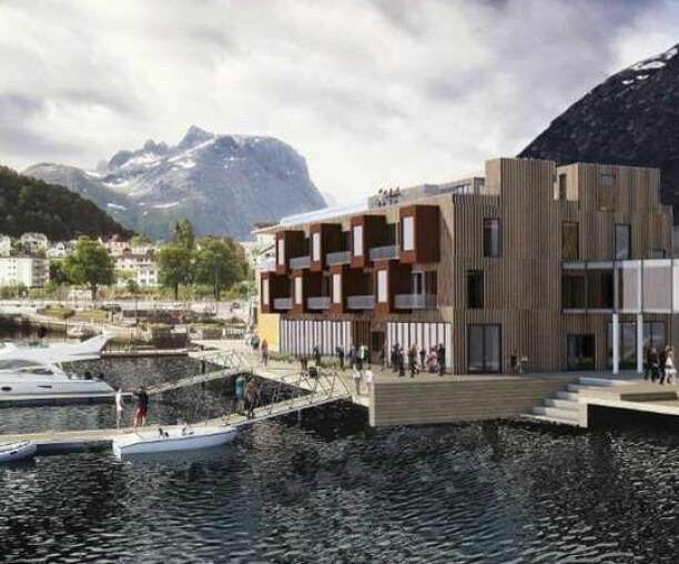 Det nye fjordhotellet kan få opptil 140 rom (+)