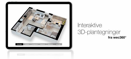 Interaktive 3D-plantegninger er det nyeste verktøyet i boligsalg
